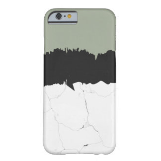 Minimal Marble & Black Brush Stroke Cool Artistic Barely There iPhone 6 Case