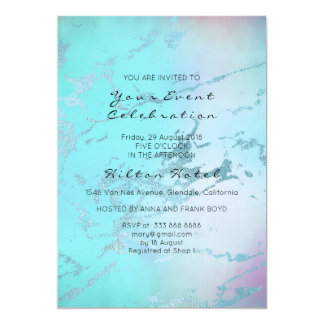 Minimal Marble Pastel Ombre Rose Tiffany Blue Card
