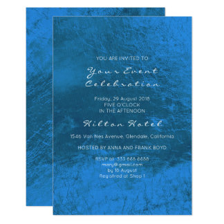 Minimal Metallic Cobalt Blue Minimal Glass Card