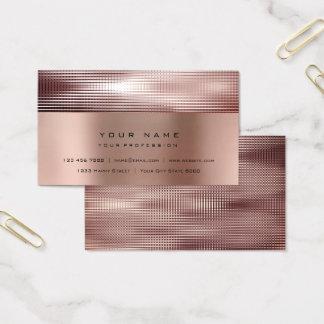 Minimal Metallic  Sparkly Red Bean Burgundy Business Card