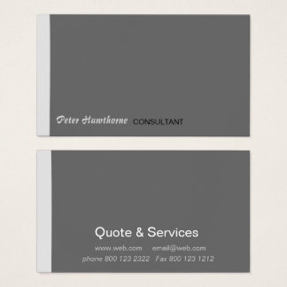 Minimal Minimum Modern Peeking Stripe Professional Business Card