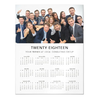 Minimal Modern | 2018 Company Photo Calendar Magnetic Card
