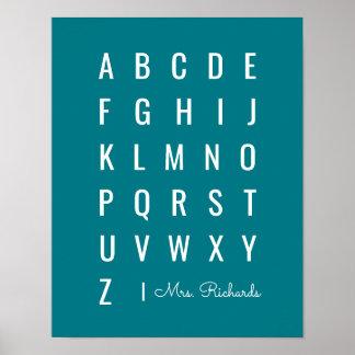 Minimal Modern Alphabet | Choose any Color Poster