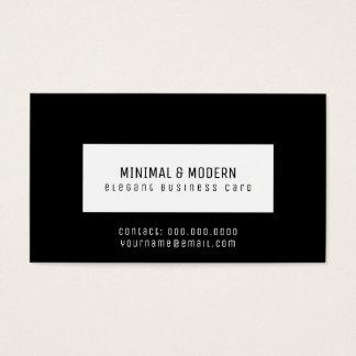 minimal & modern elegant black business card