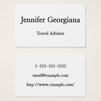 Minimal & Modern Travel Advisor Business Card