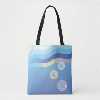 Minimal Ocean Sunrise and Sunset Tote Bag