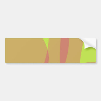 Minimal Orange Yellow Green Bumper Sticker