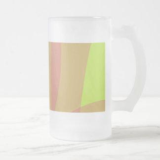Minimal Orange Yellow Green Coffee Mugs