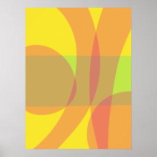 Minimal Orange Yellow Green Posters