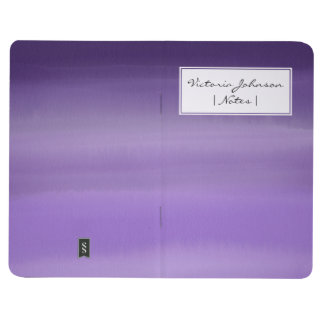 Minimal painted purple lavender ombre watercolor journal