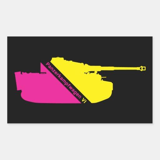 Minimal Panzerkampfwagen VI, magenta-yellow Rectangle Sticker