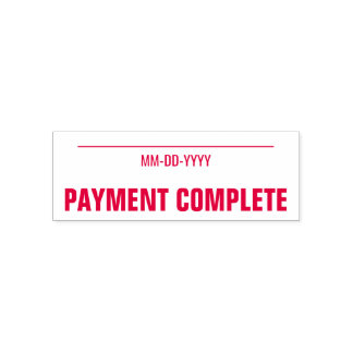 """Minimal """"PAYMENT COMPLETE"""" Rubber Stamp"""