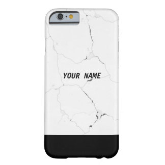 Minimal Personalized Name Marble Text Barely There iPhone 6 Case