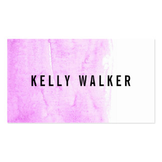 Minimal pink and black watercolor pack of standard business cards