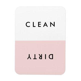 Minimal Pink Dishwasher Clean or Dirty Magnet
