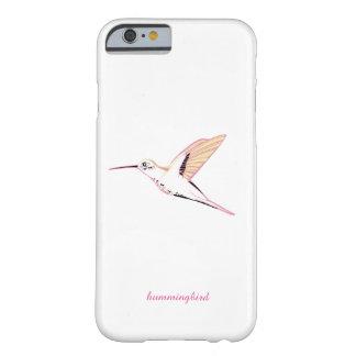 Minimal Pink hummingbird feminine chic white marri Barely There iPhone 6 Case