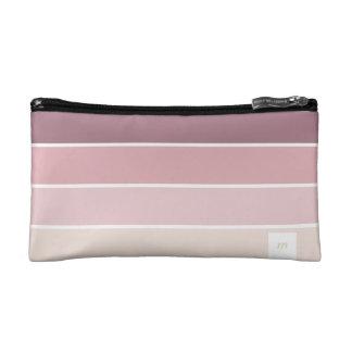 Minimal Pink violet lines elegant feminine marries Makeup Bags