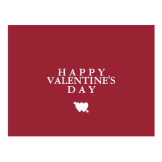 Minimal Plain Basic Simple Happy Valentine's Day Postcard