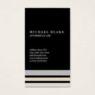 Minimal professional Black modern simple smart Business Card