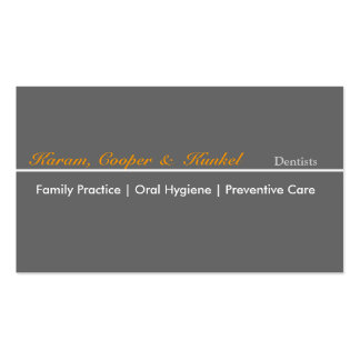 Minimal Professional Dentist Neutral Different Pack Of Standard Business Cards