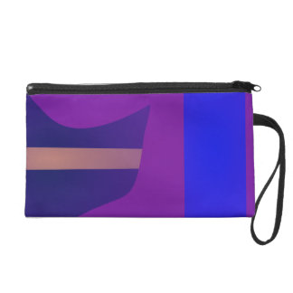Minimal Purple Space Wristlet