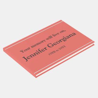 Minimal & Respectable Condolences Guestbook