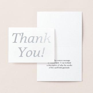 "Minimal Silver Foil ""Thank You!"" Card"