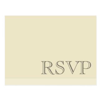 Minimal Simple Basic Neutral RSVP Postcard