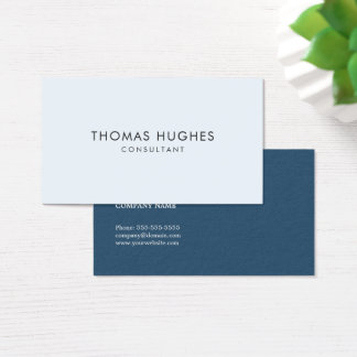 Minimal Simple Clean Blue Networking Consultant Business Card