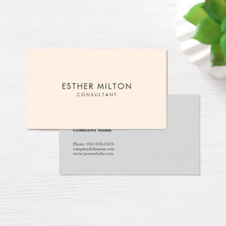 Minimal Simple Clean Elegant Networking Consultant Business Card