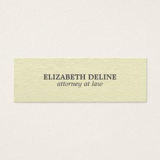 Minimal Simple Elegant Texture Attorney Mini Business Card