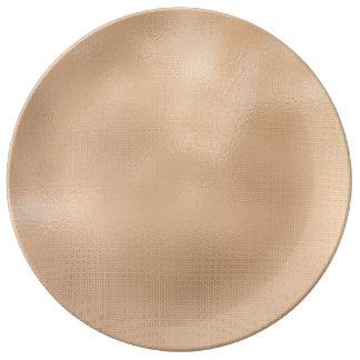 Minimal Skinny Peach Italian Gold Metallic Urban Plate