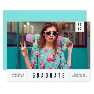 Minimal Sleek Graduation Photo Announcement