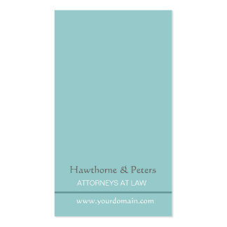 Minimal Sleek  Simplistic Blue Striped Pack Of Standard Business Cards