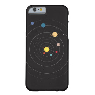 Minimal Solar System Space Orbit iPhone 6/6s Case
