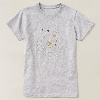 Minimal Solar System Space Orbit Women's T-shirt