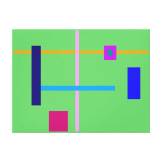 Minimal Straight Lines Stretched Canvas Prints