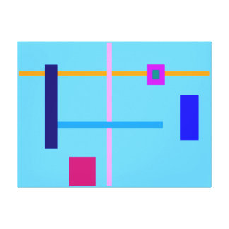 Minimal Straight Lines Stretched Canvas Print