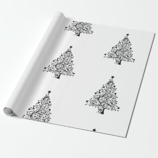 Minimal Style White Wrapping Paper for Christmas