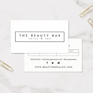 Minimal Stylish Appointment Business Cards