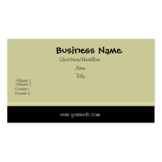 Minimal Traditional Black Swash Edge Pack Of Standard Business Cards