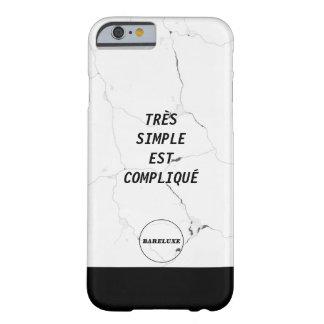 Minimal TRÈS SIMPLE EST COMPLIQUÉ Logo Marble Text Barely There iPhone 6 Case