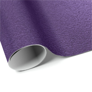 Minimal Ultra Violet Purple Ametyst Eggplant Wrapping Paper