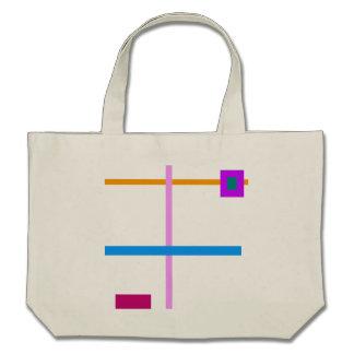 Minimal Vertical and Horizontal Lines Canvas Bag