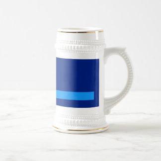 Minimal Vertical and Horizontal Lines Navy Mug