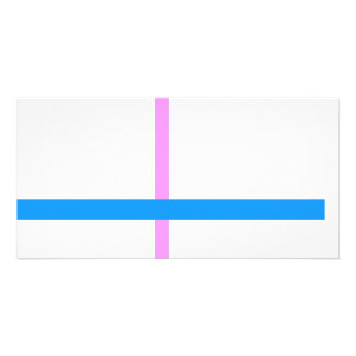 Minimal Vertical and Horizontal Lines Photo Card Template
