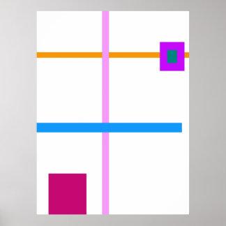 Minimal Vertical and Horizontal Lines Print