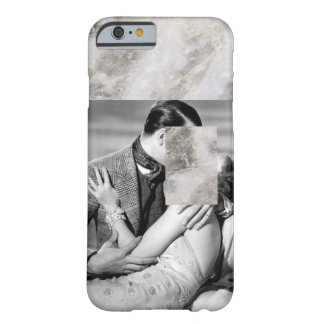 Minimal Vintage Film Black & White Marble Barely There iPhone 6 Case
