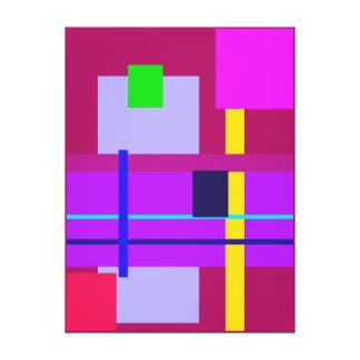 Minimal Violet Stretched Canvas Print