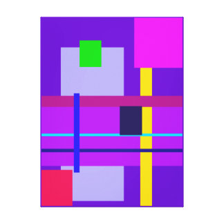 Minimal Violet Canvas Print